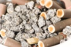 Free Old Cigarettes In The Ashtray Royalty Free Stock Image - 6887536
