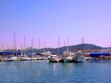 Yachts In Harbour Royalty Free Stock Photo