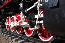 Wheels Of Vintage Steam Locomotive Stock Images