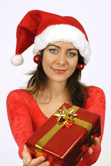Free Giving Her Gift Stock Photo - 6887890