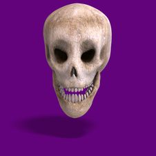 Toon Skull  Is Watching You Stock Photo