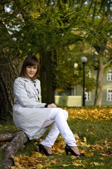 Free A Young Woman In The Autumn Park Stock Photo - 6888400
