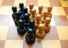 Free Vintage Pawns On Chess Board Stock Photography - 6888462