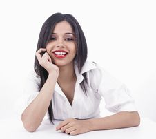 Free Girl Talking On The Cell Phone Stock Images - 6888674