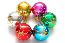 Free Christmas-tree Decorations Royalty Free Stock Photos - 6888778