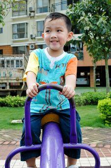 China S Exercise Boy Royalty Free Stock Images