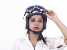 Free Asian Female Biker Royalty Free Stock Photography - 6889227
