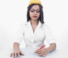 Free A Sexy Female Civil Engineer Royalty Free Stock Image - 6889266