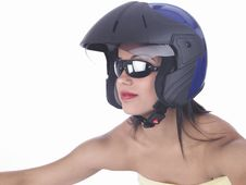 Free Asian Female Biker Stock Photography - 6889362