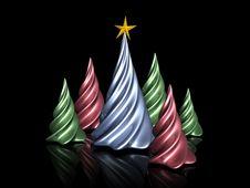 Free 3D Christmas Trees Stock Photos - 6889363