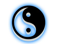 Free Yin Yang Icon. Royalty Free Stock Photos - 6889798