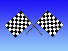 Free Double Checkered Flag Royalty Free Stock Photo - 6889825