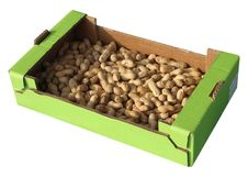 Peanuts In A Box Stock Images