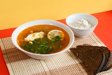 Free Russian Traditional Soup - Solyanka Stock Photography - 6889962