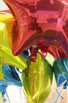 Free Helium Colorful Bright Ballons Stock Image - 68862851