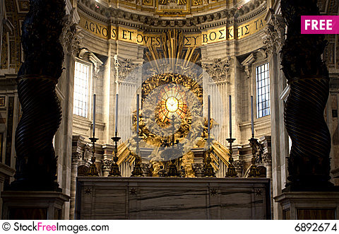 Free Rome - Interior Of  St. Peters Basilica Stock Images - 6892674