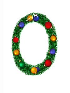 Free Numeral From Christmas Decoration - 0 Stock Photography - 6890732