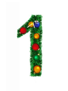Free Numeral From Christmas Decoration - 1 Stock Photos - 6890773