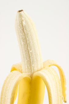 Free One Cleared Banana Isolated Stock Images - 6890844