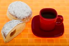 Free Doughnut And Coffee Royalty Free Stock Photo - 6890865