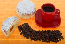 Free Doughnut And Coffee Royalty Free Stock Image - 6890876