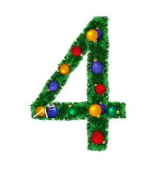 Free Numeral From Christmas Decoration - 4 Royalty Free Stock Photography - 6891027