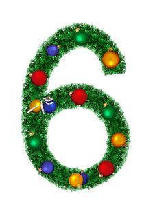 Free Numeral From Christmas Decoration - 6 Stock Photos - 6891133