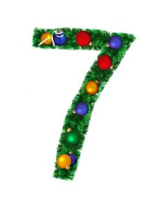 Free Numeral From Christmas Decoration - 7 Stock Photo - 6891150