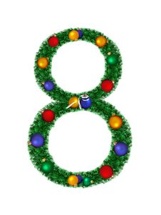 Free Numeral From Christmas Decoration - 8 Royalty Free Stock Image - 6891176