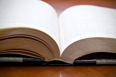 Free Shallow Focus Closeup Of A Book Stock Image - 6891761