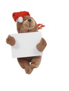 Free Christmas Teddy Bear Royalty Free Stock Photos - 6892138