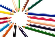 Free Beautiful Color Pencils Royalty Free Stock Photography - 6893067