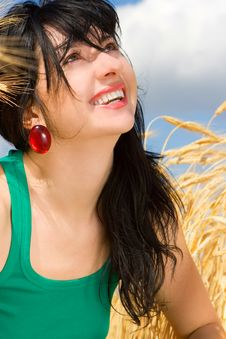 Free Woman In Golden Wheat Stock Image - 6893811