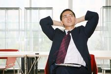 Free Young Asian Working In Office Royalty Free Stock Image - 6894426