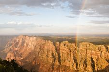 Free Rainbow At The Grand Canyon Royalty Free Stock Photography - 6894587