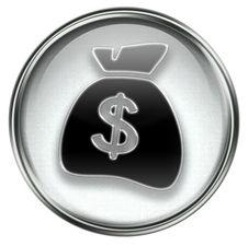 Free Dollar Icon Grey Stock Photos - 6894763