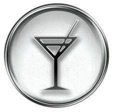 Wine-glass Icon Grey Royalty Free Stock Photos
