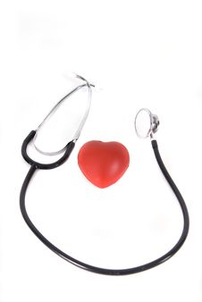 Free A Conceptual Stethoscope On Heart Royalty Free Stock Photos - 6895208