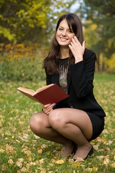 Free Young Girl Reading A Book Stock Photo - 6895260