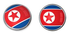 Free Banner Button North Korea Royalty Free Stock Photography - 6895287