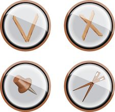Free Wood Buttons Stock Photos - 6895693