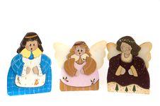 Free Three Figurine Christmas Choir Angels Stock Photo - 6896020