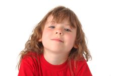 Free Closeup Of A Pretty Young Girl Royalty Free Stock Photo - 6896085