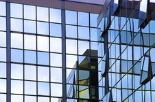 Free Glass Wall Of Business Center Stock Photos - 6896143