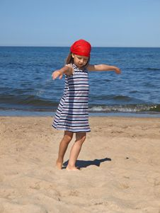Free Young Girl On The Beach Stock Photo - 6896370