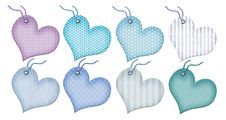 Gift Tags In The Form Of Heart. Royalty Free Stock Photography