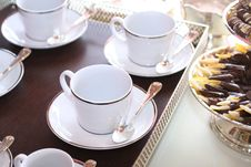 Free Trays Of Cups Of Tea Stock Images - 6897654