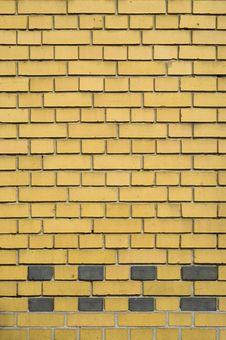 Free Yellow And Gray Brick Facade Royalty Free Stock Photo - 6897755