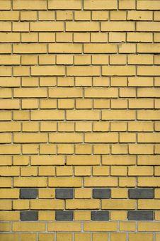 Yellow And Gray Brick Facade Royalty Free Stock Photo