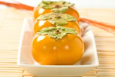 Free Head On Persimmons Royalty Free Stock Photo - 6898895